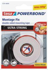 Tesa Mimoriadne silná obojstranná lepiaca páska tesa® Powerbond ULTRA STRONG, montážna - 10 cm udrží až 10 kg, 1,5m:19mm