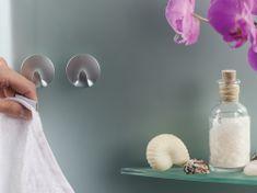 Tesa tesa Powerstrips® Háčky, 3ks, malé, kruhové, plastové, matný chrom, nosnost 1 kg