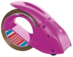 """Tesa tesa® Ruční odvíječ balící pásky PACK""""N""""GO s páskou, růžový, pro role 66m:50mm"""