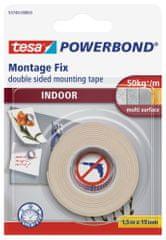 Tesa Interiérová montážna páska tesa® Powerbond INDOOR, obojstranná páska - mimoriadne pevné prichytenie (až 5 kg na 10cm), 1,5m:19mm