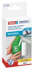 Tesa tesa® On&Off Samolepicí suchý zip, bílý, obě strany, 1m:20mm