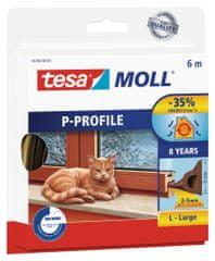 Tesa tesamoll® Gumové těsnění, hnědé, na okna a dveře, P profil, 6m