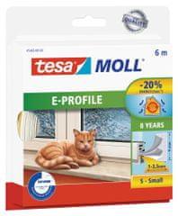 Tesa tesamoll® Gumové těsnění, bílé, na okna a dveře, E profil, 6m
