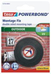 Tesa Exteriérová montážna páska tesa® Powerbond OUTDOOR, obojstranná, odolná, silné prichytenie (až 1 kg na 10 cm), 1,5m:19mm