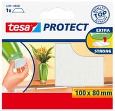 Tesa tesa® PROTECT, Plstěná samolepící podložka, obdélník, hnědá, 100mm:80mm