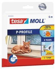 Tesa Samolepiace tesnenie s profilom P na okná tesamoll®, tesniaca páska, izolácia pred prievanom, na medzery do 15 mm, 6 m