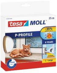 Tesa tesamoll® Gumové těsnění, bílé, na okna a dveře, P profil, 25m