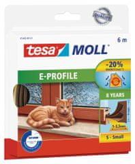 Tesa tesamoll® Gumové těsnění, hnědé, na okna a dveře, E profil, 6m