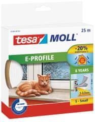 Tesa tesamoll® Gumové těsnění, bílé, na okna a dveře, E profil, 25m