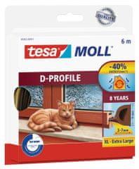Tesa Samolepiace tesnenie s profilom D tesamoll®, gumové tesnenie na dvere a okná, životnosť 8 rokov, na medzery od 3 do 7 mm, 6m
