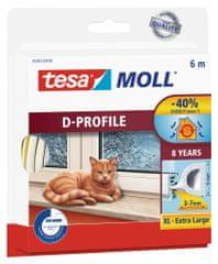 Tesa tesamoll® Gumové těsnění, bílé, na okna a dveře, D profil, 6m