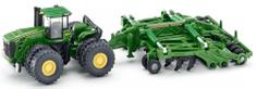 SIKU Farmer 1856 Traktor John Deere 9630 s bránami Amazone Centaur