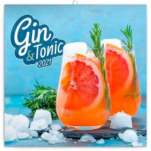 Kalendář 2021 poznámkový: Gin & Tonik, 30 × 30 cm
