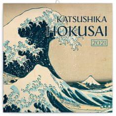 Kalendář 2021 poznámkový: Katsushika Hokusai, 30 × 30 cm