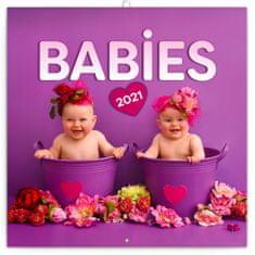 Kalendář 2021 poznámkový: Babies – Věra Zlevorová, 30 × 30 cm