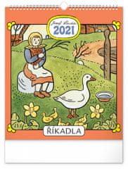 Kalendář 2021 nástěnný: Josef Lada – Říkadla, 30 × 34 cm