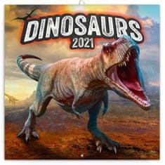 Kalendář 2021 poznámkový: Dinosauři, 30 × 30 cm
