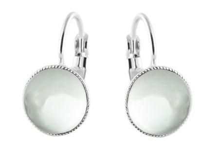 Kraftika 925 posrebrzana dźwignia kolczyki minimalistyczne okrągły