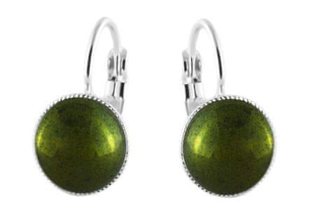 Kraftika 925 ezüstözött kar minimalista fülbevaló kerek 10mm fém