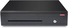 Virtuos pokladničná zásuvka C425C, čierna, kovové držiaky bankoviek, s káblom RJ12 24V, konektor RJ50, 9-24V