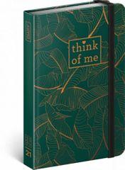 Diář 2021: Tropical – Think of me- týdenní, 11 × 16 cm