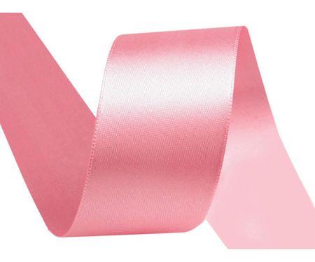 Kraftika 20m világos rózsaszín dupla arcú szatén szalag szélessége
