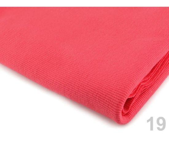 Kraftika 1m (722) korálová úplet bavlněný elastický žebrovaný -