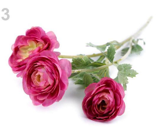 Kraftika 1ks růžová tmavá umělý pryskyřník k aranžování