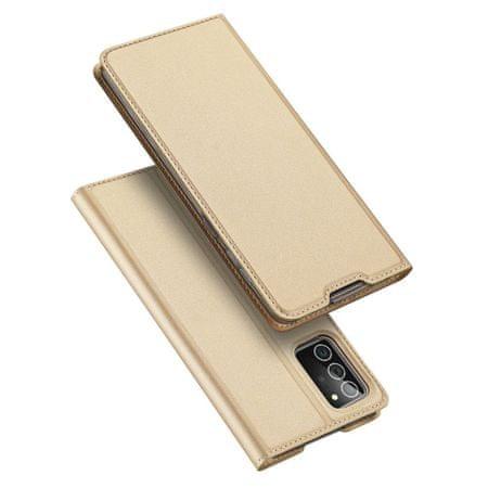 Dux Ducis Skin Pro usnjeni flip ovitek za Samsung Galaxy Note 20, zlato