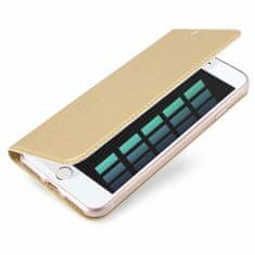 Dux Ducis Skin Pro knižkové kožené puzdro na iPhone 7/8 Plus, zlaté