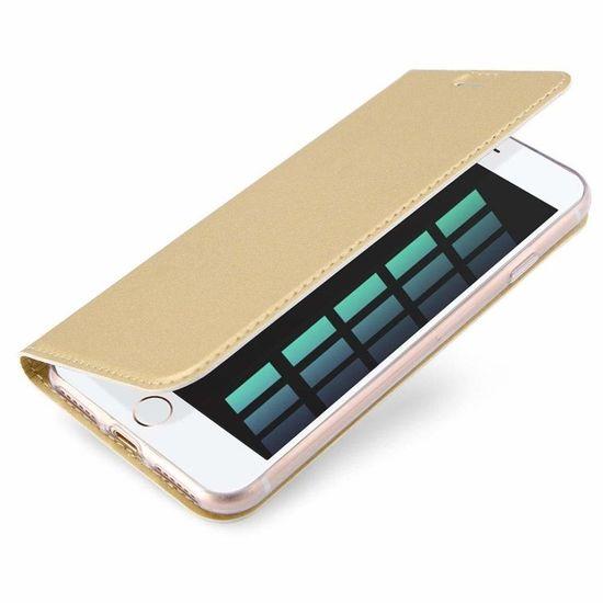 Dux Ducis Skin Pro knížkové kožené pouzdro na iPhone 7/8 Plus, zlaté