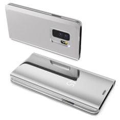 MG Clear View knížkové pouzdro na Samsung Galaxy S7, stříbrné