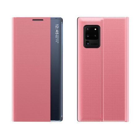 MG Sleep Case Smart Window könyv tok Samsung Galaxy Note 20 Ultra, rózsaszín