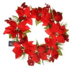 EverGreen božićna zvijezda - vijenac 8 kvadratnih, pr. 40 cm