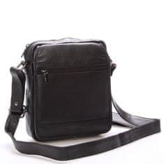 Bellugio Pánská kožená dokladovka taška WILD Z4 černá