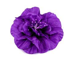 Kraftika 1ks 10 modrofialová brož / ozdoba růže ø10cm, dřevěné