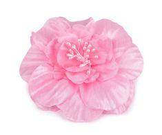Kraftika 1ks růžová světlá brož / ozdoba růže ø10cm, dřevěné