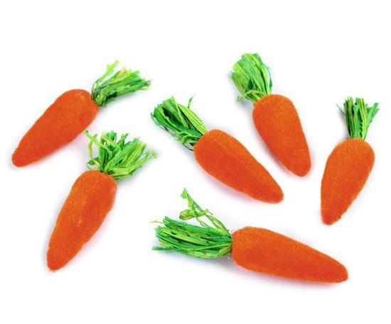Kraftika 1sáček ranžová mrkvová dekorace mrkvička, miniatury, ostatn