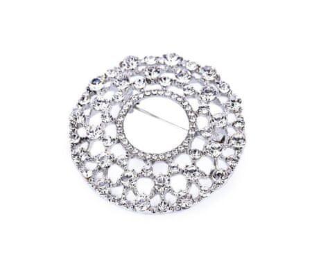 Kraftika 1 kryształ rhinestone broszka, metal i szkło broszki