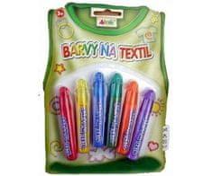 SMT Creatoys Konturovací základní barvy na textil pro dětské tvoření