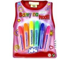 SMT Creatoys Konturovací třpytivé barvy na textil pro dětské tvoření
