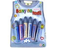 SMT Creatoys Konturovací metalické barvy na textil pro dětské tvoření
