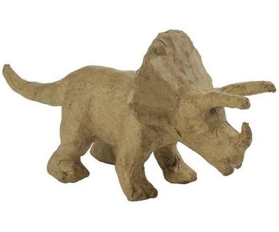 Kraftika Kartonový předmět xs triceratops 6x19x9cm,