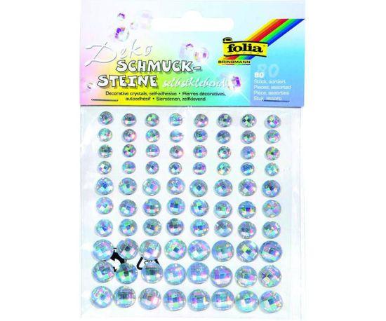 Kraftika Ozdobné kamínky samolepící - 80 ks - blýskavé krystaly