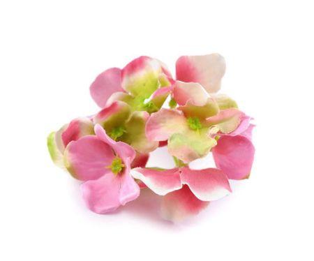 Kraftika 2szt óżowy jasny sztuczne kwiaty hortensji, ozdobne