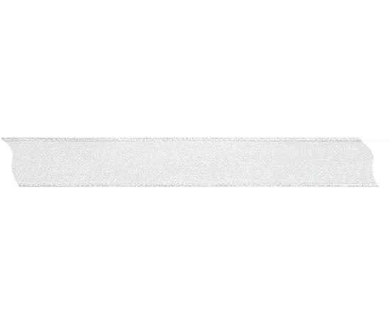 Kraftika Stuha šifón průsvitná s drátěným okrajem bílá šířka 15mm