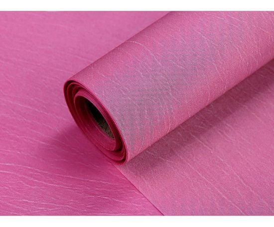 Kraftika 9m růžová střední taft jednostranný šíře 36cm