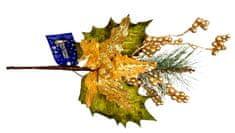 EverGreen Karácsonyi rózsa ág bogyókkal, 45 cm hossz, C