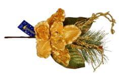 EverGreen Magnólia ág virággal és gyöngyökkel, 45 cm hossz, B