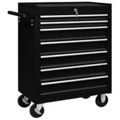 shumee Dielenský vozík na náradie so 7 zásuvkami čierny